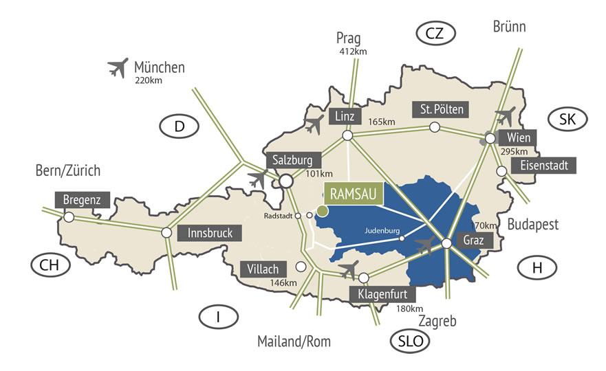 Dachstein Karte.Landurlaub Am Trillerhof In Ramsau Am Dachstein Mit Zimmer Und